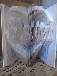 Book Folding Pattern 'Love' PDF & Tutorial Available Online To Buy From Creations by a Butterfly For A Great Deal On Book Folding Pattern 'Love' PDF & Tutorial Or Any Other Unique Handmade Craft Gifts And Creative Gift Ideas Visit Stallandcraftcollective.co.uk #5623