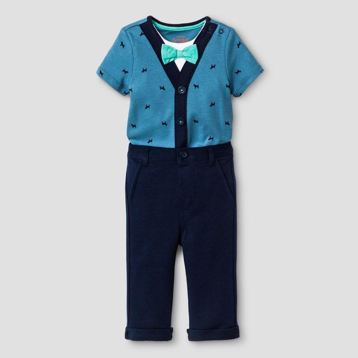 Baby Boys' Bodysuit and Dress Pants Set - Cat & Jack Navy 12M, Size: 12 Months, Blue
