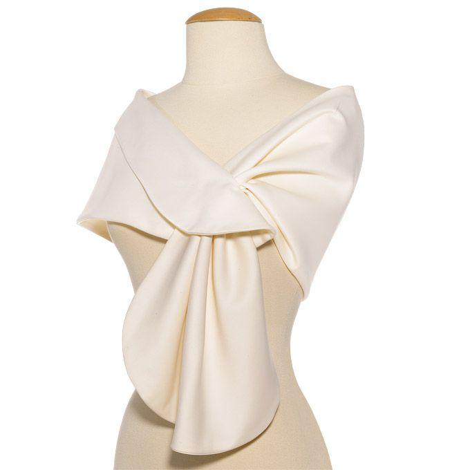 Brides: Elizabeth Gillett. Clara silk wrap, $215, Elizabeth Gillett