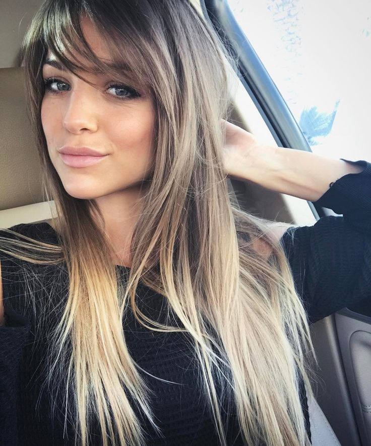 layered side bangs ideas