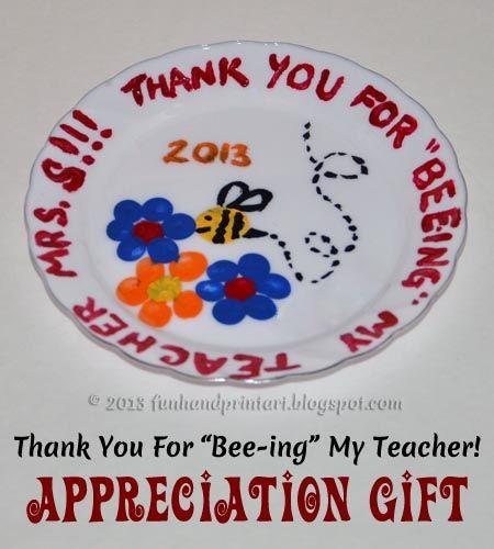 Fingerprint Plate Teacher Appreciation Thank You Gift