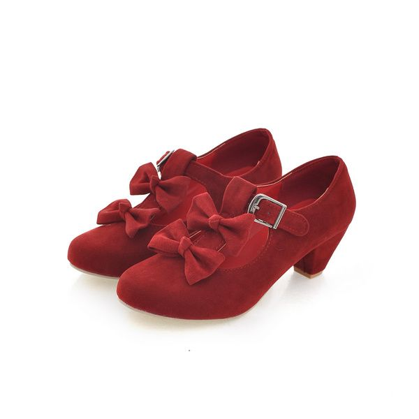 Hot Sale New Arrival Sweet Style Bowknot and Buckle Embellished Shoes For Female (BEIGE,39) China Wholesale - Sammydress.com