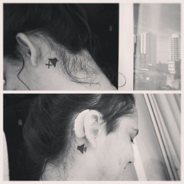 My first tattos to remember an important part of me. Deaf, create tatto, hearing aids, hearing, mute