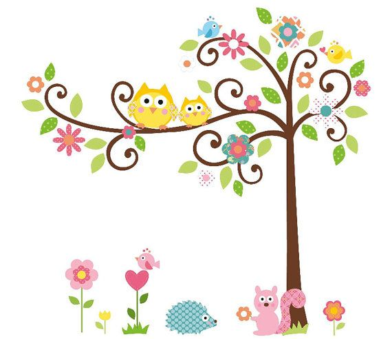 forest animals 2 Nursery Wall Decal, Wall art ,Wall Sticker Baby room