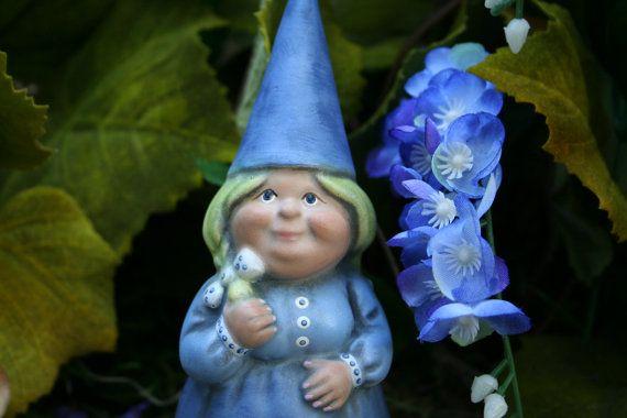 Female Garden Gnomes | Female Gnomes For Sale Custom Girl Yard Gnome by PhenomeGNOME