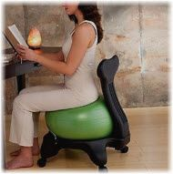 Sexy tight muscles and perfect shape with a revolutionary balance ball chair!