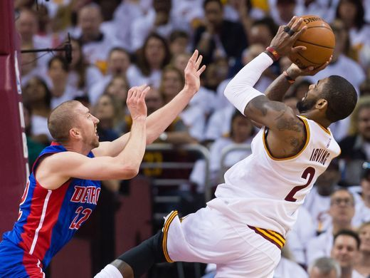 Cavs-Pistons, Game 1: Kyrie Irving #2 of the Cleveland