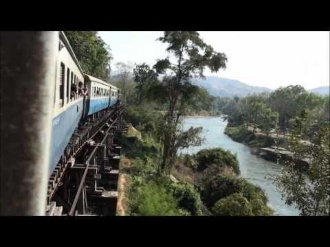 The real Bridge on the River Kwai | Train from Bangkok to Kanchanaburi & River Kwae