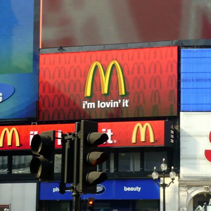 Picadilly circus Londres Ecran geant afficheur