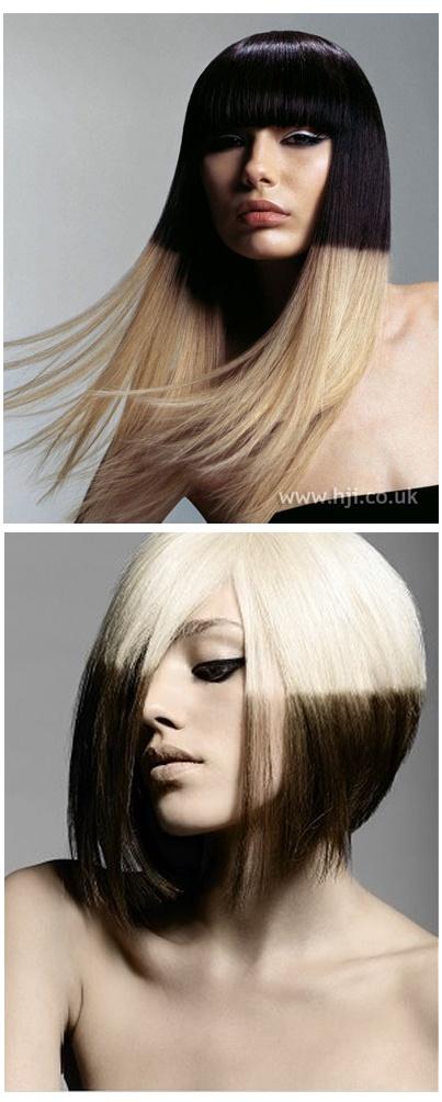 just love this monochrome block hair...