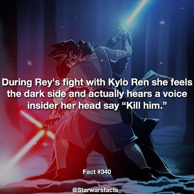Woah! And yet she didn't kill him. She had the cancer but as far as I could tell there was no conflict in her. She never was truly tempted to kill him even though she knew virtually nothing of the dark and light or of the Jedi code.