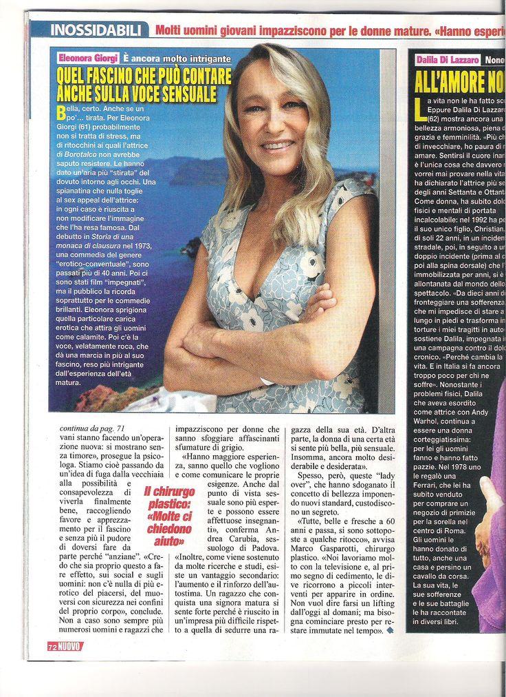 """Mia intervista sul settimanale """"Nuovo"""" di Cairo Editore n. 13 riguardo La riscossa delle Over 60: quando il Fascino non ha età (Pag. 3)  http://www.psicologo-psicoterapeuta-sessuologo.it"""
