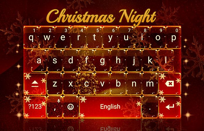 Beautiful Red Festive Christmas Night Theme! #android #redrawkeyboard #xmas