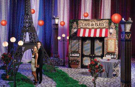 Paris Backdrop for Party | Paris Event Theme-image