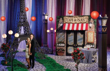 Paris Backdrop For Party Paris Event Theme Image Night