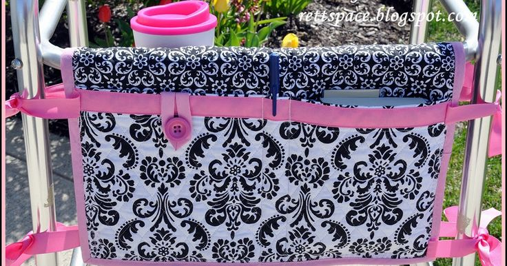 The Gazebo House: Walker Caddy Tutorial - I think this will be a great idea for pockets for my camping chair!!