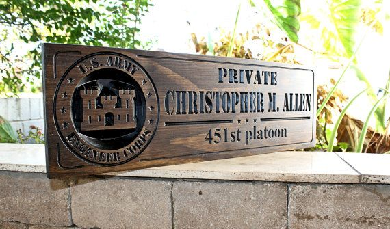 Military Sign-US Army-Navy Sign-Marines by CustomWoodDesignLLC