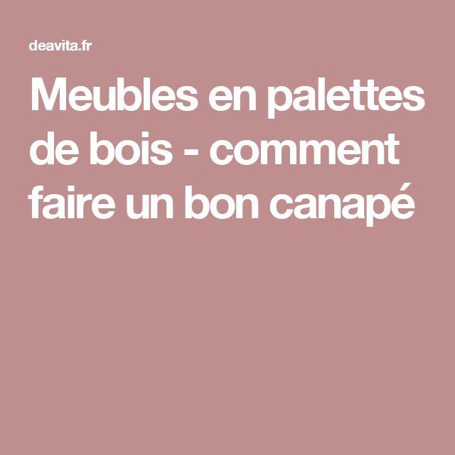 ... Palette En Bois sur Pinterest  Canapé Palette, Canapé et Palettes