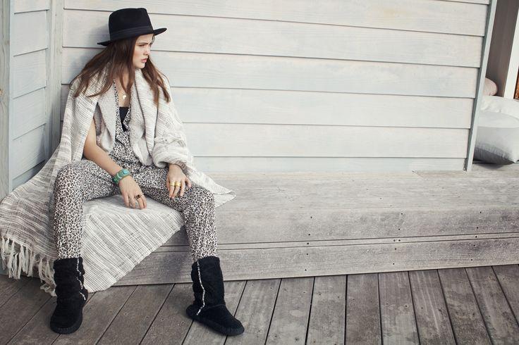 LingaDore Lounge - Enola (Sleeveless jumpsuit + Fluffy bodywarmer + Fluffy boots) New Autumn | Winter 2014/'15 collection! www.LingaDore.com