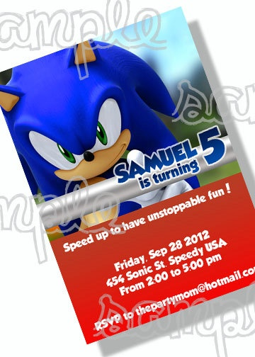 Sonic The Hedgehog Birthday Party Invitation Jpg By Thepartymom