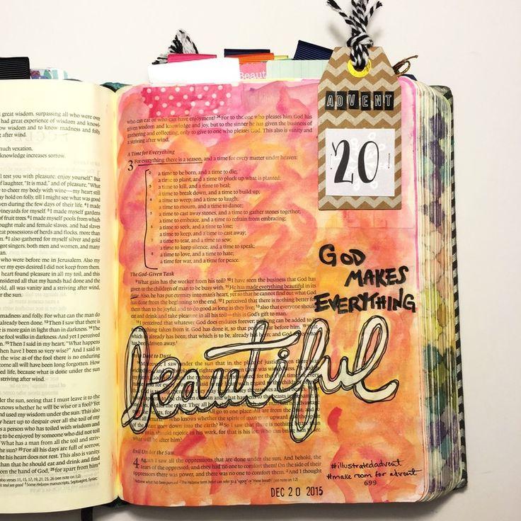 Advent Bible journaling, Ecclesiastes 3:11 — Arden Ratcliff-Mann #illustratedfaith