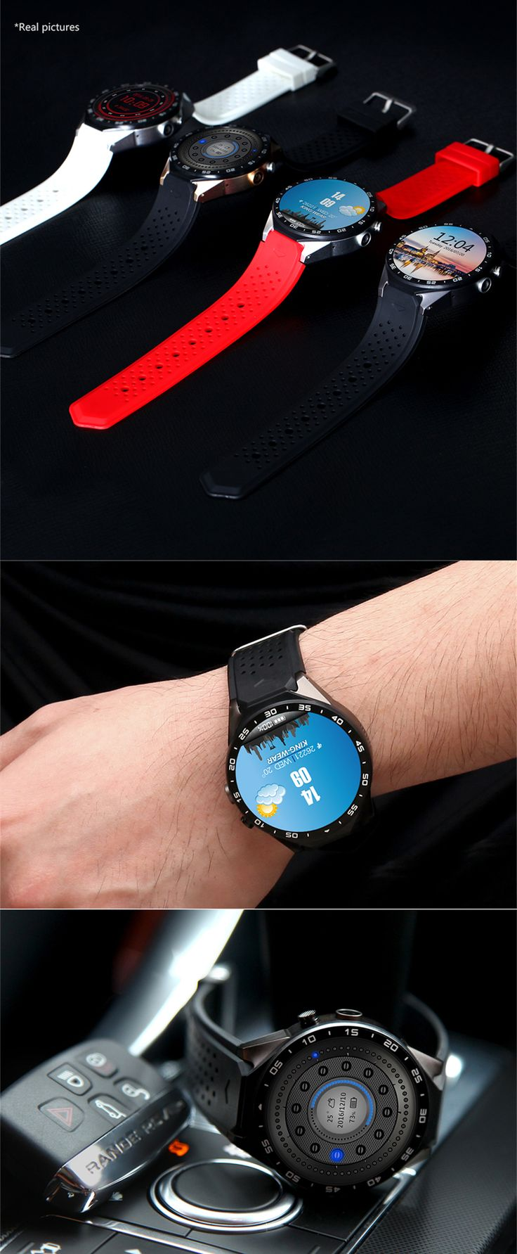 The latest android 5 1 os smart watch kw88