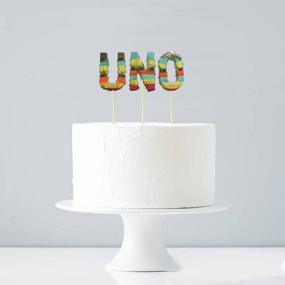 This listing includes a set of 3 letters. Each piñata letter is 4 inches tall x 2.5 wide x .5 inch thick on a 6 inch wooden dowel. The piñatas are not fillable and for cake decoration only. I can also spell out a name (each letter is $6 each). You can choose from any of these festive and bright colors: hot pink, yellow, orange, dark blue, aqua, lime green, red, teal, purple, light pink, white. You can specify if you would like them all the same, or different so each one is unique. Please…