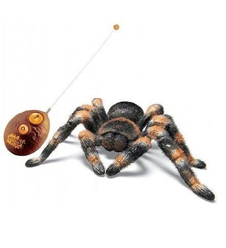 Most Amazing Gadgets – Radio Control Tarantula An authentic looking RC Tarantula with light-up eyes that crawls with spider-like movement and has realistic fur! Scare your friends and family! Independent leg movement.