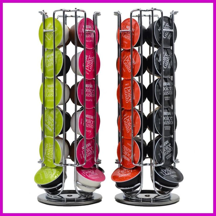 1PC Coffee Pod Holder Rotating Rack Coffee Capsule Stand Capsules Storage for 24 PCS Dolce Gusto Capsule