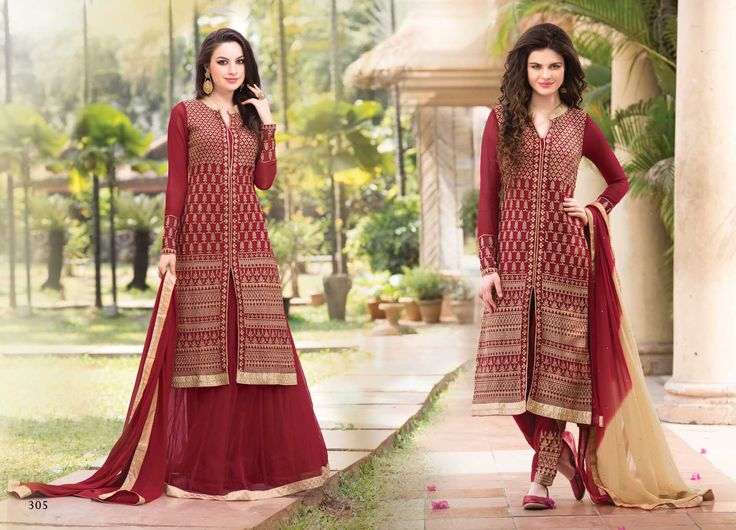 @Wedding Wear Maroon Color Designer Suit. Pricing Call Us or What's App on :- +91 99099 59528 Visit Our Site:=> #www.sareemall.in Email Us on:- support@sareemall.in