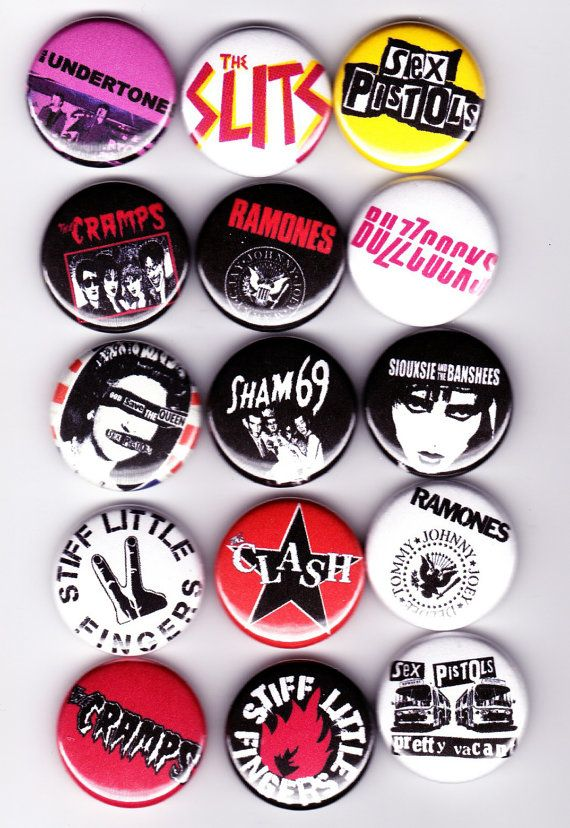 15 1970s Punk badges - sex pistols the clash undertones slits ramones sham 69 buzzcocks on Etsy, $12.24