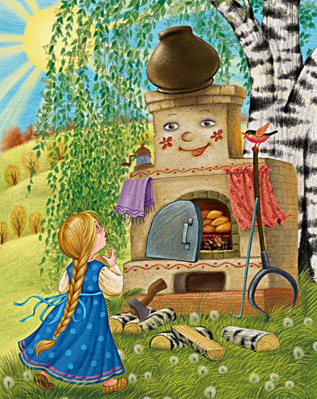 Иллюстрации картинок русских сказок