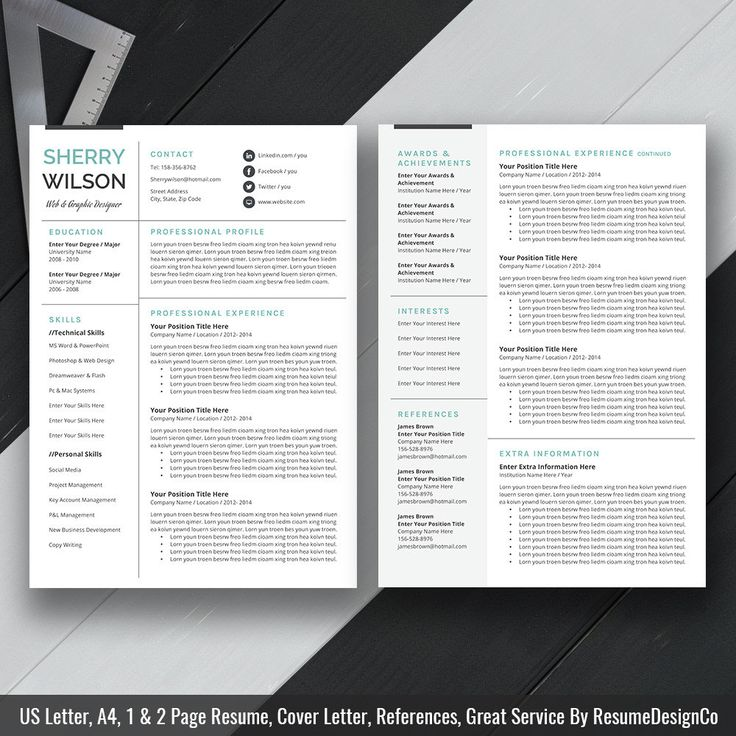 80 best ResumeDesignCo images on Pinterest Resume templates - how to get resume template on word