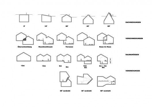 Diagrams VitraHaus by Herzog and de Meuron