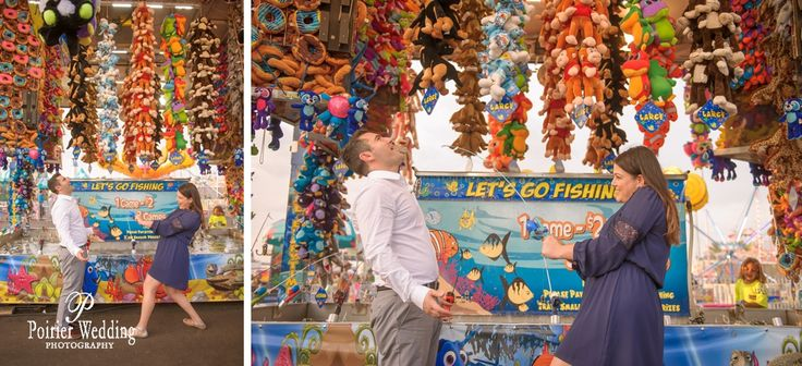 Fun fair engagement shoot Carnival themed