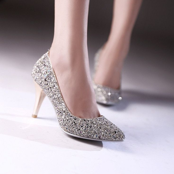 Heels: approx 8 cm Platform: approx - cm Color: Gold, White, Green, Black Size: US 3, 4, 5, 6, 7, 8, 9, 10, 11, 12 (All Measurement In Cm And Please Note 1cm=0.39inch) Note:Use Size Us 5 As Measuremen