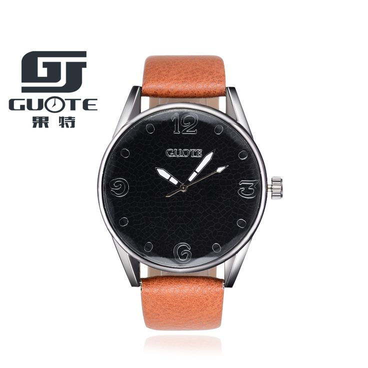dc688236cd2 Watches 2017 New Brand GUOTE Casual Quartz Watch Men Fashion Leather Strap  Watches Women Wristwatch Simple