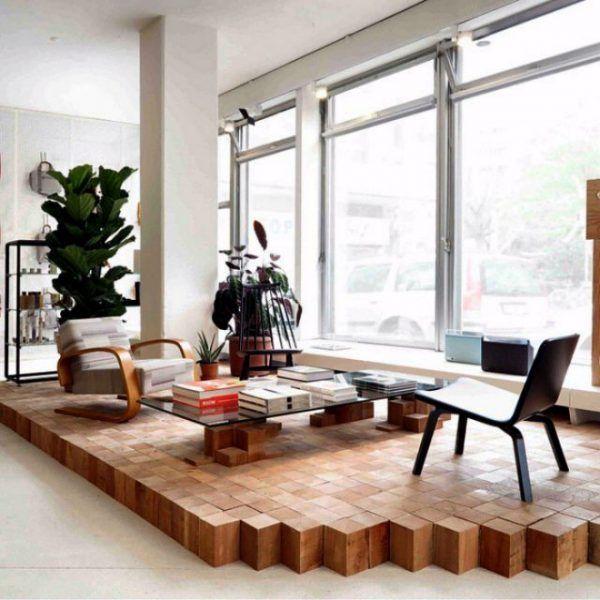Raised Wooden Platform Floor Design Unique Flooring Home