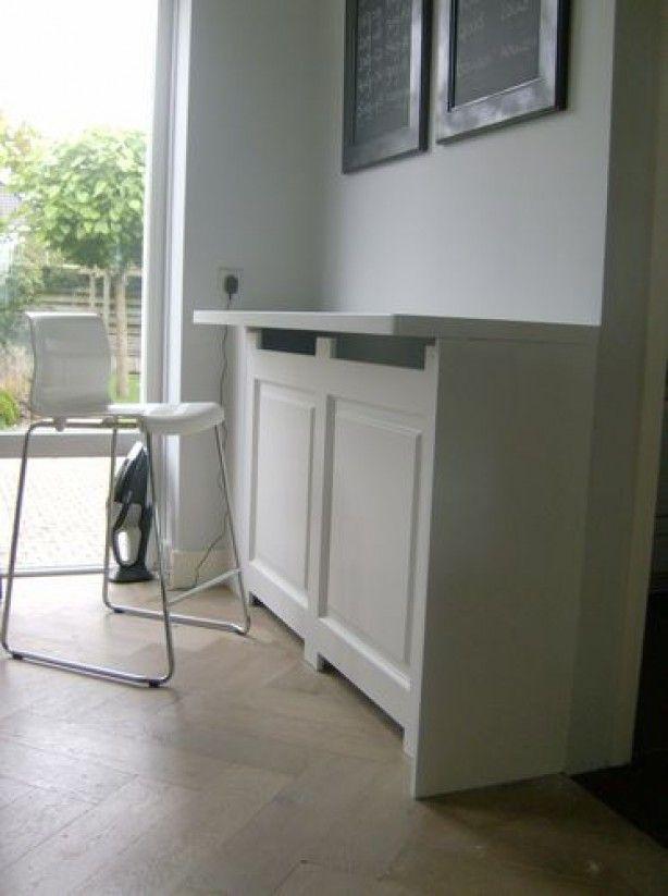 radiator ombouw als tafel