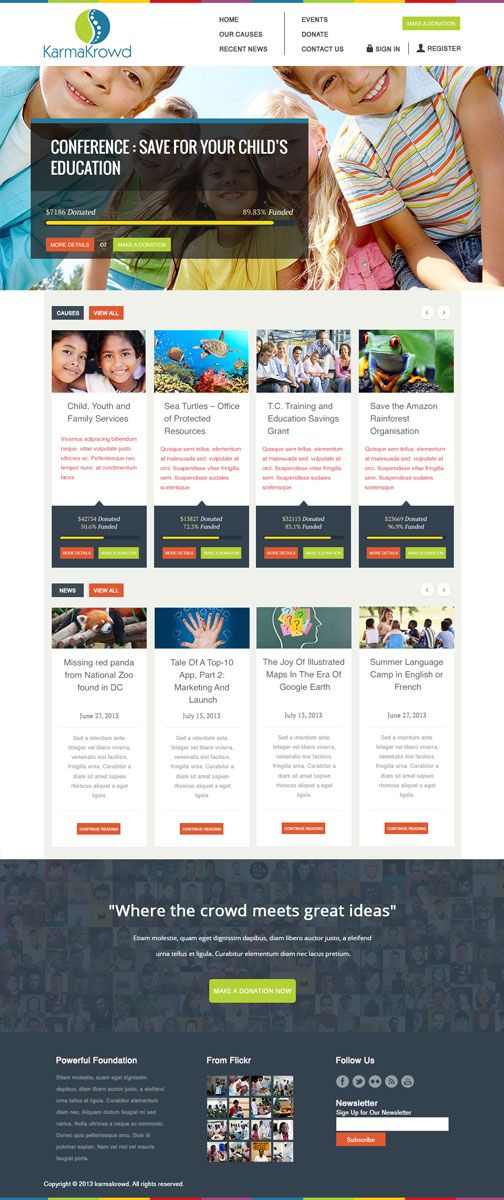 Caritable HomePage Design