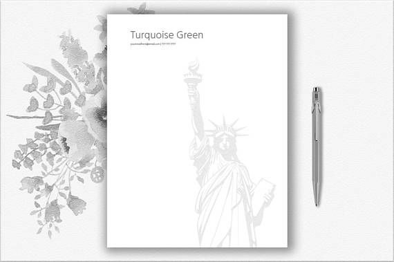 New York Design Letterhead Template Editable in Word