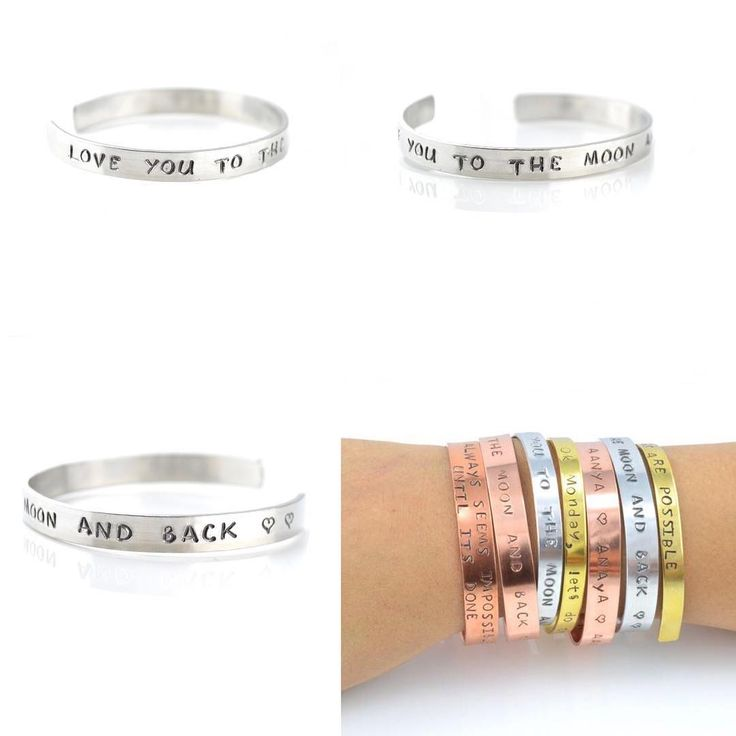 LOVE YOU TO THE MOON AND BACK - CUFF BRACELET!