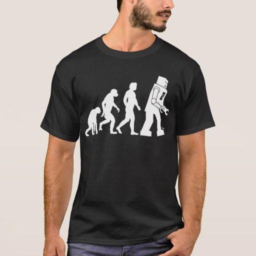 Robot Evolution T-Shirt. Producto disponible en tienda Zazzle. Vestuario, moda. Product available in Zazzle store. Fashion wardrobe. Regalos, Gifts. #camiseta #tshirt #programmer #nerd #sheldon
