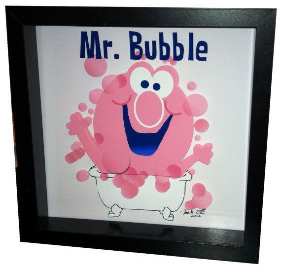 Mr Bubble Bathroom Art 3D Pop Artwork Pink Bath Decor by PopsicArt, $45.00