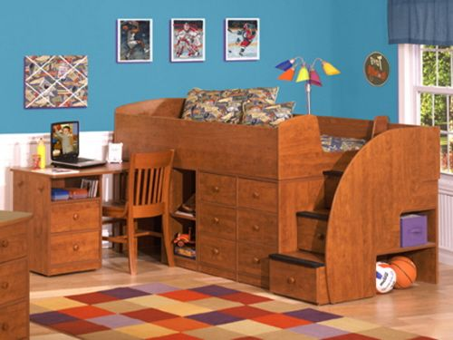 Captains Bunk Bed For Two - WoodWorking Projects & Plans