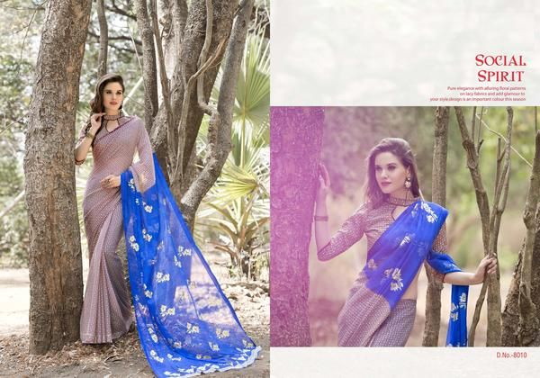 Buy treditional partywear printed sarees for women