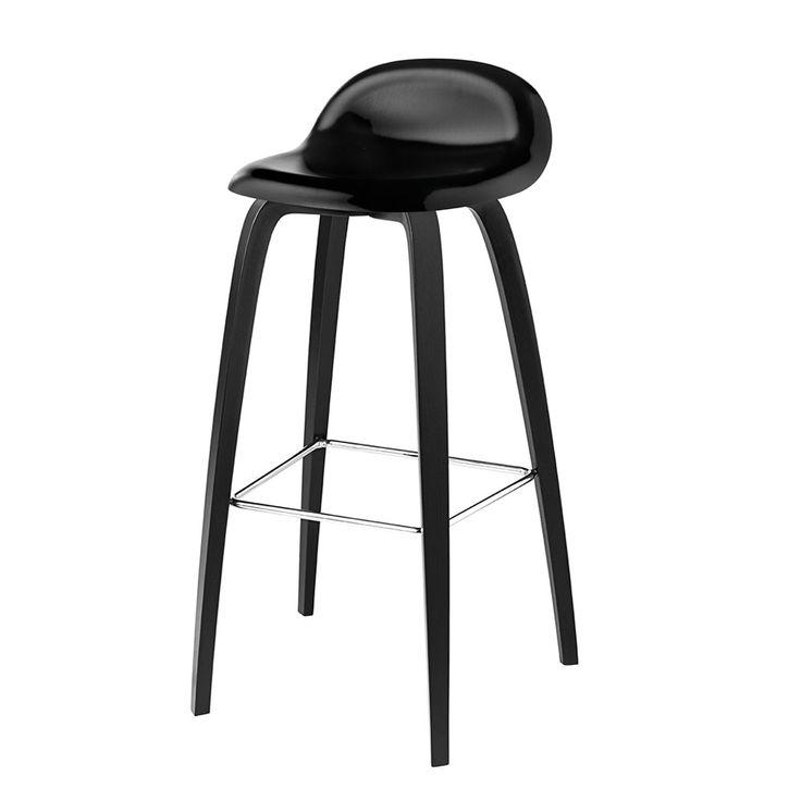 Designer Black Gubi 3d Bar Stool And Kitchen Stool Black