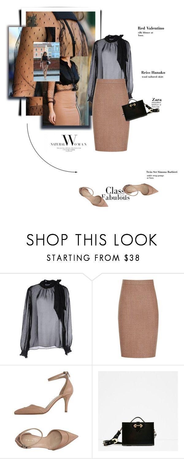 """""""Thighs"""" by theitalianglam ❤ liked on Polyvore featuring RED Valentino, Reiss, Twin-Set, yoox and italianstyle"""