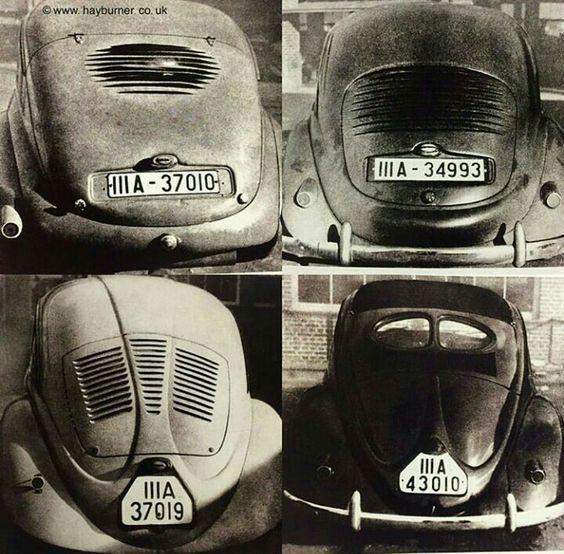 OG | Volkswagen / VW Beetle / KdF-Wagen | Rear view of different prototypes