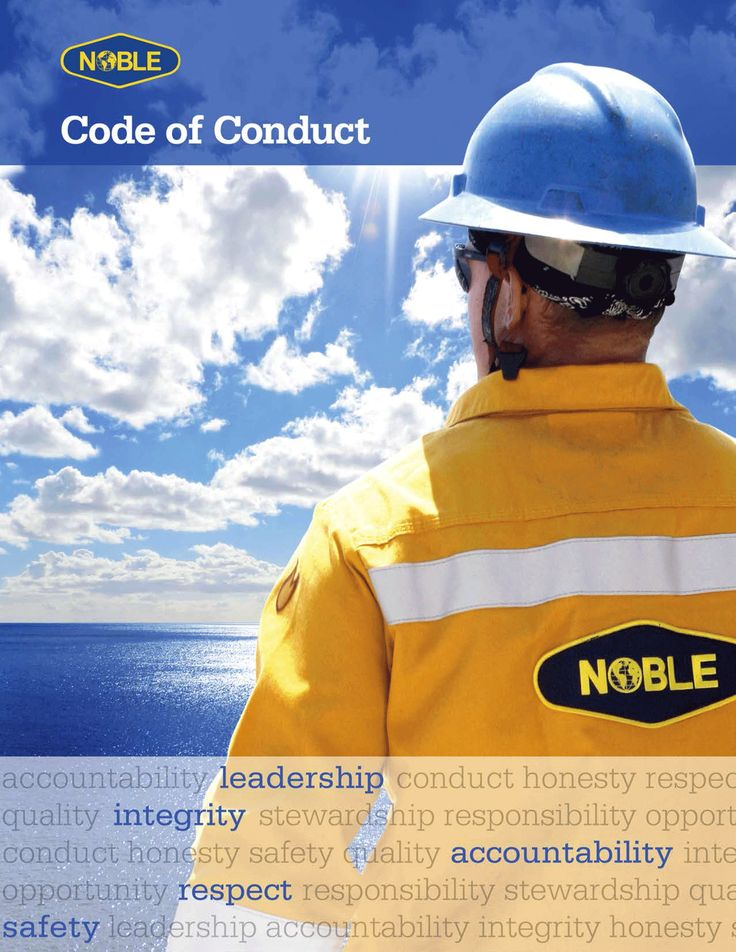 Code of Conduct brochure for Noble Drilling
